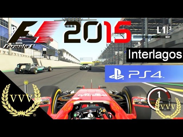 F1 2015 Brazil PS4 Gameplay