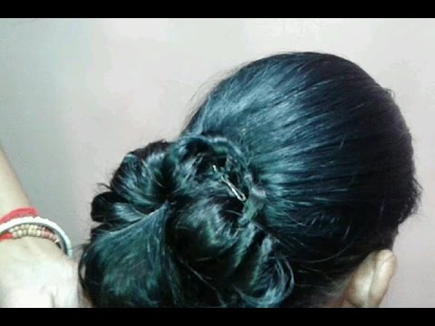 Butterfly Juda Hair Style Video In Hindi YouTube - Hairstyle design dikhaye