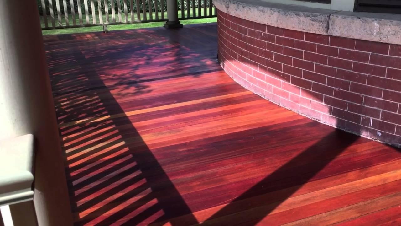 Mahogany Deck After