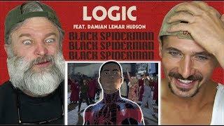 Gay Guys React- Logic - Black SpiderMan ft. Damian Lemar Hudson