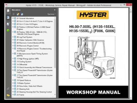 Hyster S50xm Forklift Wiring Diagram Solar Water Heater Schematic 4 11 Kenmo Lp De H135 155xl Service Manual Youtube Rh Com