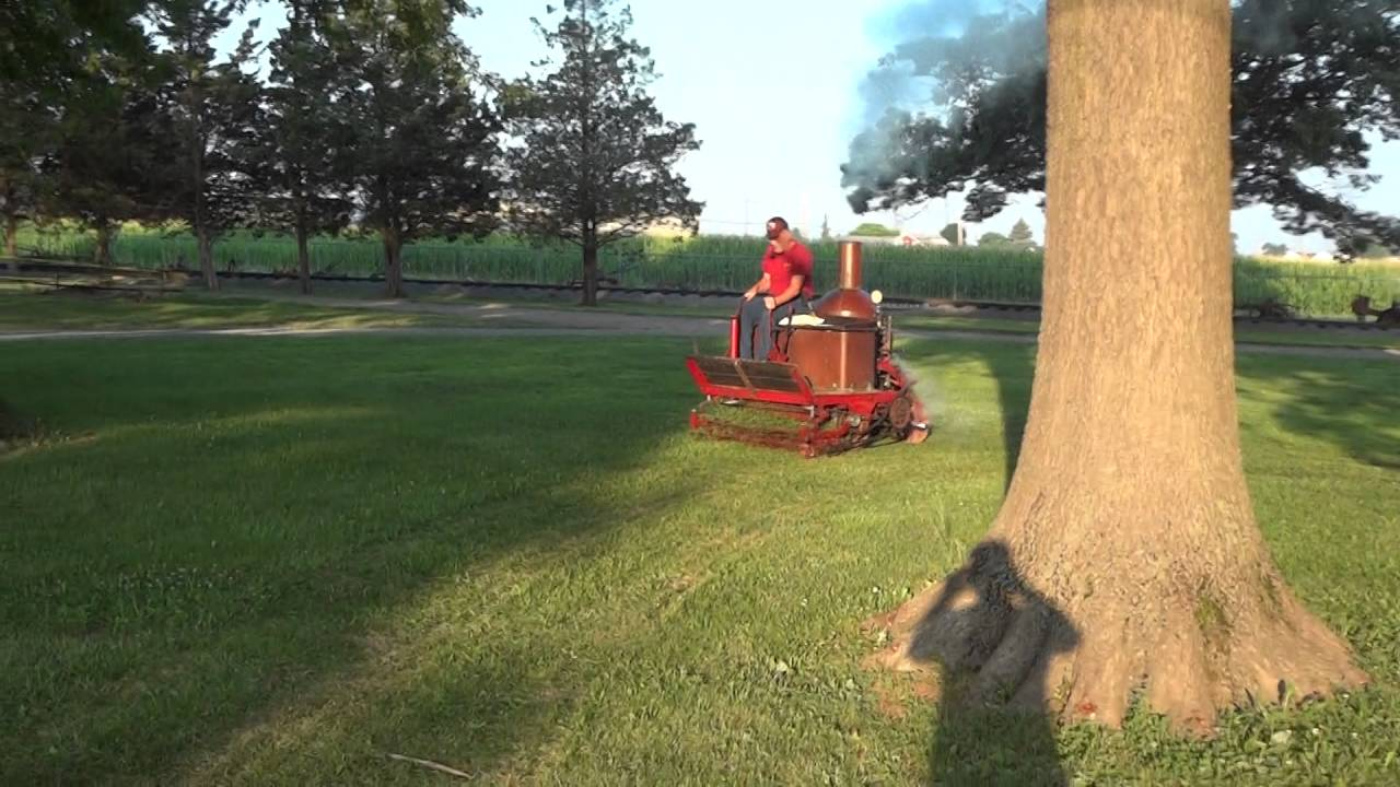 Rough And Tumble >> Coldwell Steam lawn mower - YouTube
