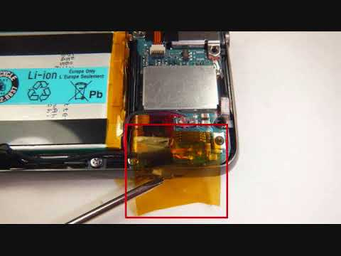 How to take apart a SONY Walkman NWZ-E436F and change battery