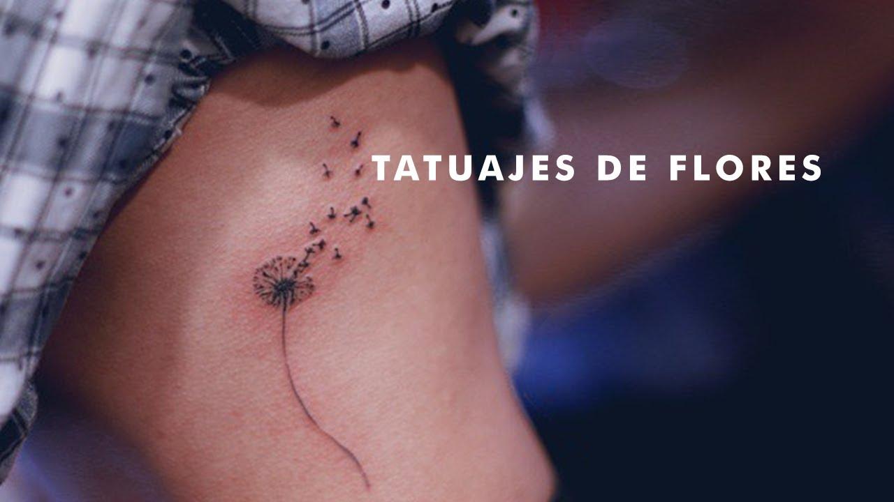 21 Tatuajes de Pequeñas Flores para Mujeres