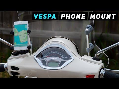 Vespa Phone RAM Mount TUTORIAL | Mitch's Scooter Stuff