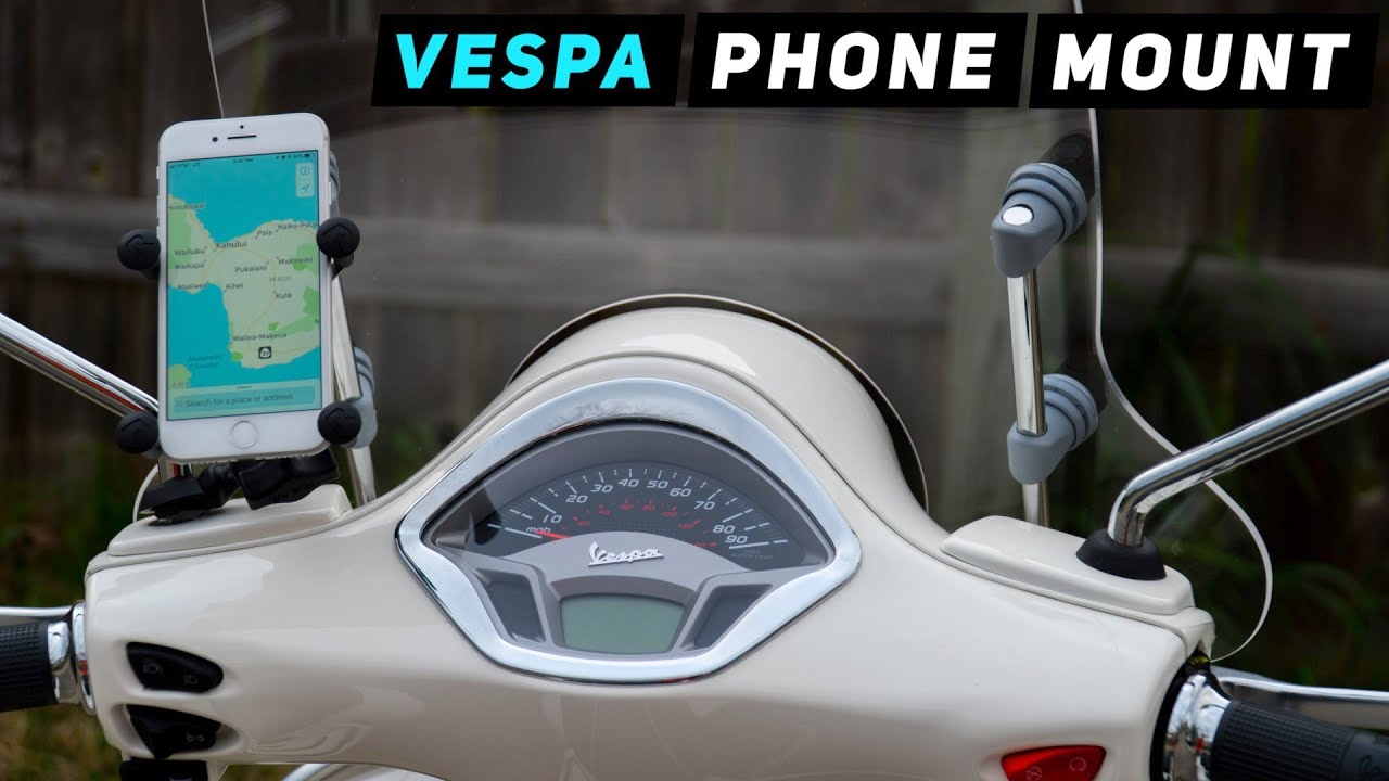 vespa phone ram mount tutorial youtube. Black Bedroom Furniture Sets. Home Design Ideas