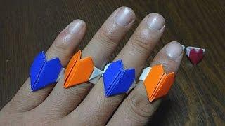 하트반지 종이접기 - 쉽게 만드는 색종이 하트 반지 - Origami Heart Ring