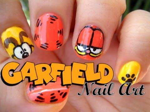 Garfield Nail Art  Uas de Garfield  YouTube