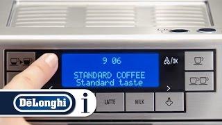 How to set the menu on your De'Longhi PrimaDonna XS ETAM 36.365 coffee machine