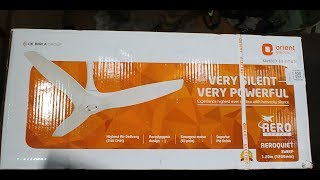 Orient AeroQuite Ceiling Fan Unoxing and Review!!