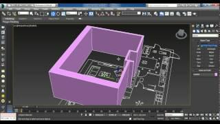 Урок 3. Часть 1/2 .Моделирование стен, перенос чертежа в 3D-max.