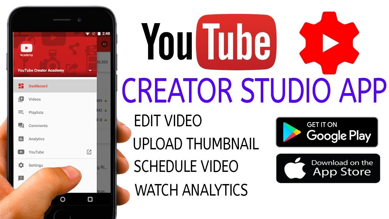 Bildresultat för YouTube Studio App