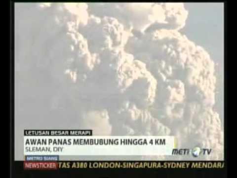 Letusan Merapi Pukul 06.00 WIB - 4 November 2010