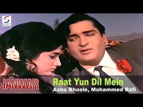 Raat Yun Dil Mein Teri - Asha Bhosle, Mohammed Rafi @ Janwar - Shammi Kapoor, Rajshree