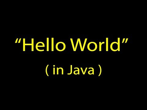 [-java-tutorial-]-how-to-write,-compile,-and-run-a-hello-world-application