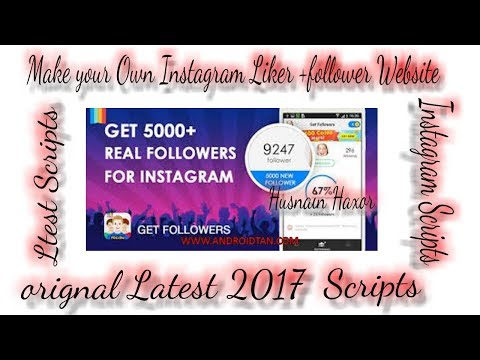 Live example) How to make your own Instagram followers+likers