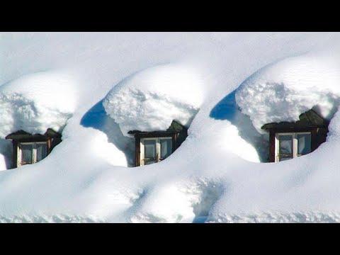 Дома засыпает снегом под крышу! Зима продолжает свирепствовать!  Пошли в лес и заблудились! Сугробы