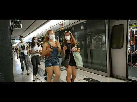 HONGKONG, MTR RIDE FROM CENTRAL TO JORDAN