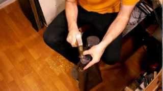 Как удалить гвозди из каблука. Как снять каблук. Ремонт обуви.
