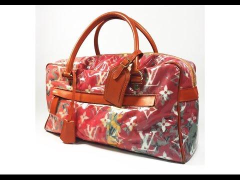 Authentic Louis Vuitton Monogram Richard Prince Limited Weekender PM Packing video LA069