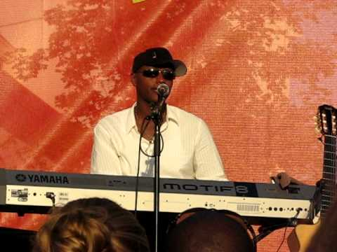 Javier Colon singing In the Arms of the Angels at Deer Park NY on July 9, 2011