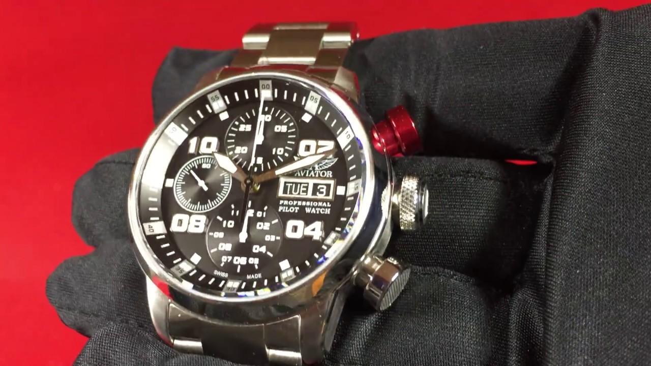 09762ee160d Aviator Swiss Professional Automatik-Chronograph ETA-7750 - YouTube