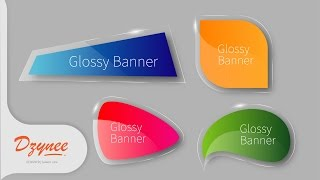 Illustrator Tutorials | Glossy Banners