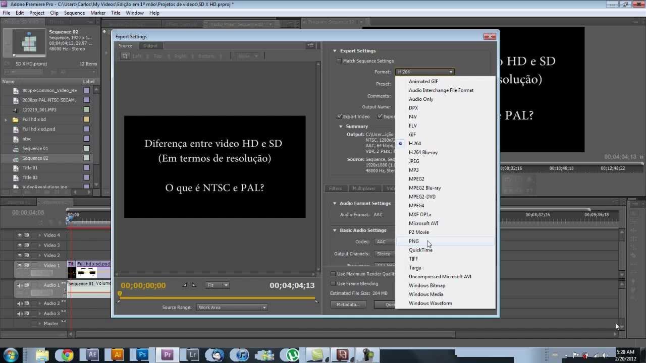 Tutorial Adobe Premiere Pro Cs5.5 - Como exportar seu