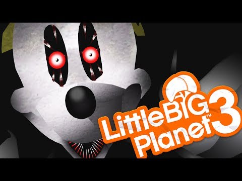 Little Big Planet 3 - ABANDONED BY DISNEY BECAME SUICIDE MOUSE CREEPYPASTA? - (littlebigplanet 3)