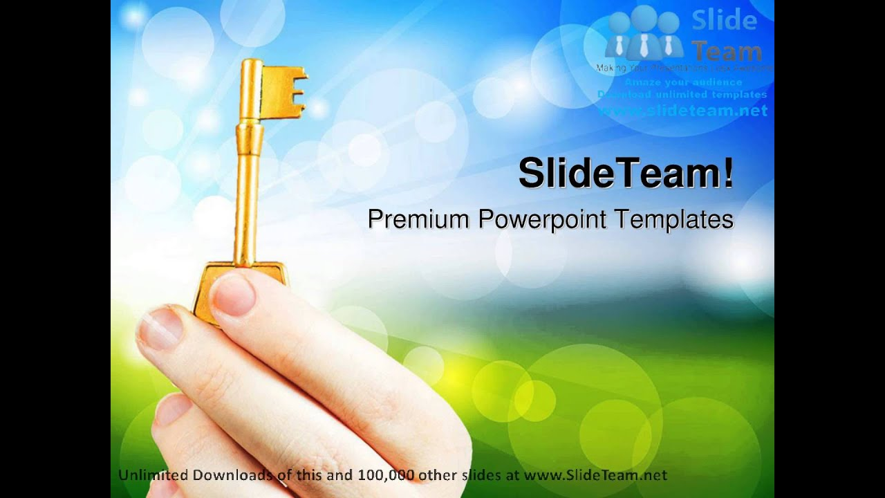 Hand Holding A Key Success Powerpoint Templates Themes And