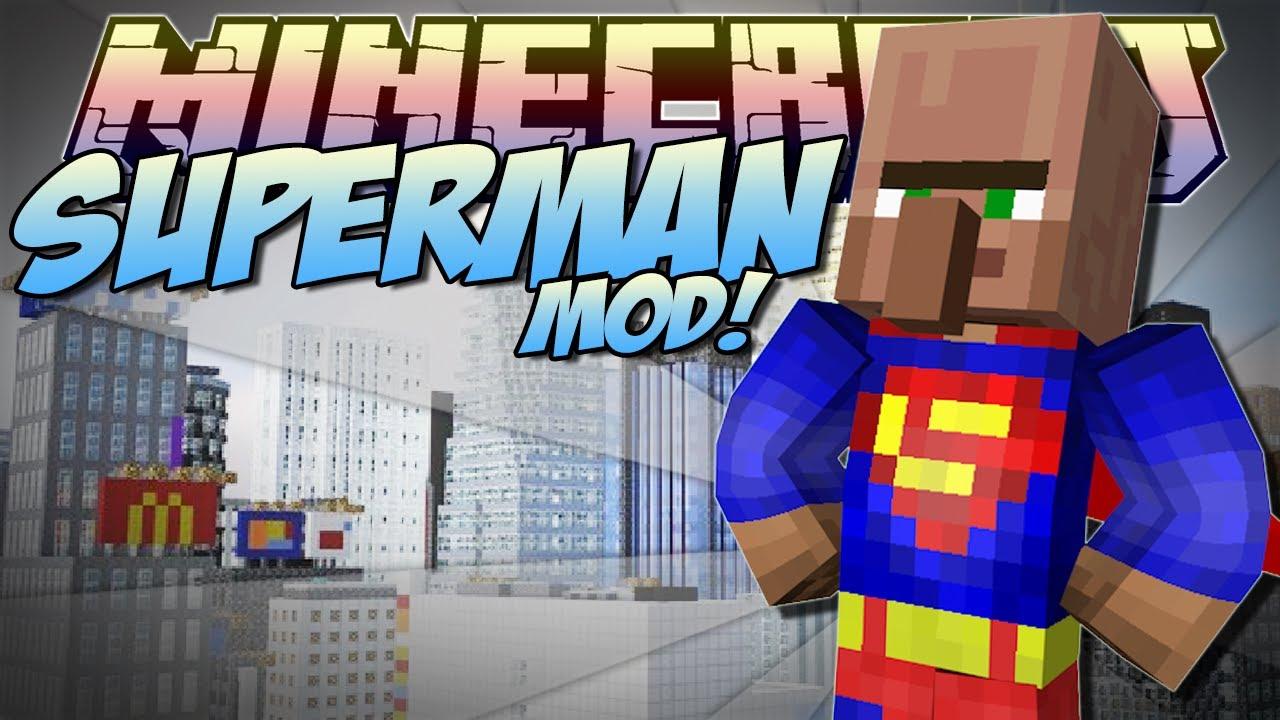 Видео как скачать майнкрафт мод супермена