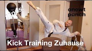 Taekwondo, Kickboxen Kick lernen & trainieren Zuhause mit One Two Punch!