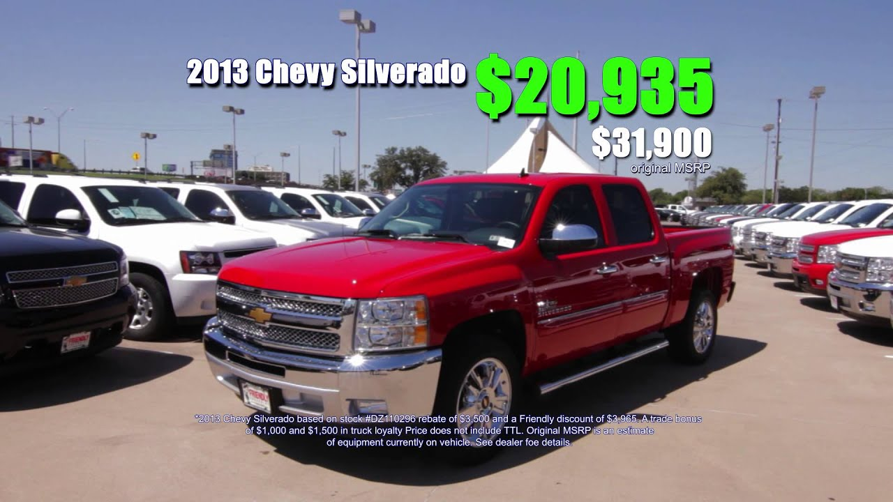 Friendly Chevrolet Tough Sale Dallas TX