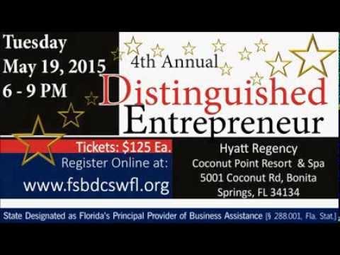Distinguished Entrepreneur 2015 RSVP Today
