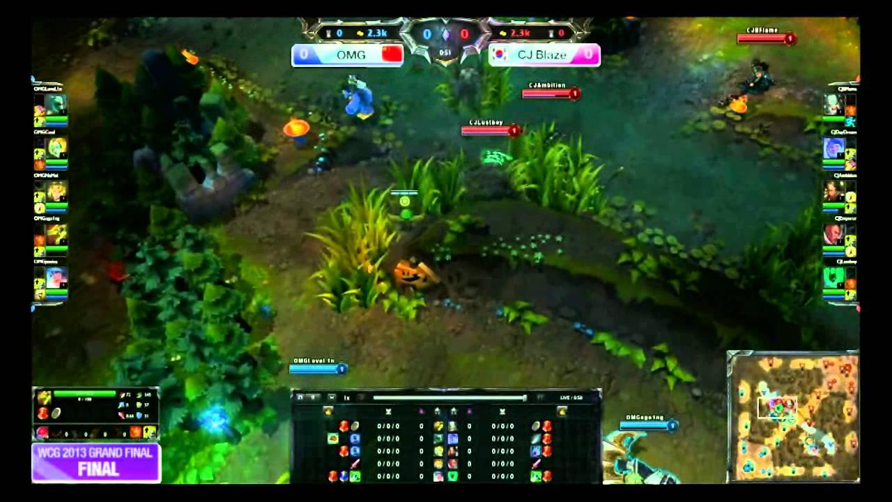 lol wcg_WCG 2013 Grand Final : Final, League of Legends (CJ Blaze vs OMG) Part 1 - YouTube