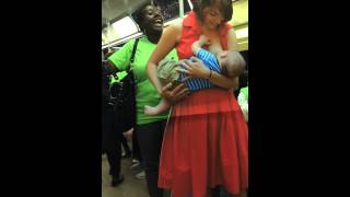 2015 NYC breast-feeding leadership council subway caravan A train