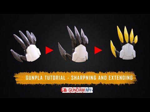 Gunpla Tutorial: Extending and Sharpening Gunpla ( Manicure and Pedicure Gundam Lupus Rex)