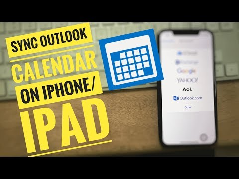 How To Sync Outlook Calendar With IPhone 11 Pro Max, XS Max,XR,iPhone X,8,7,6,6 Plus, SE