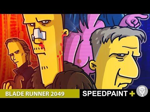 Бегущий по лезвию 2049. Simpsons Speedpaint
