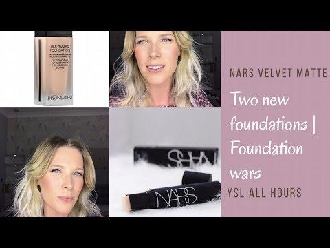 Nars Velvet Matte Foundation Vs Ysl All Hours Foundation
