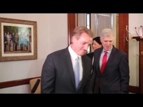 Sen. Flake Meets with Judge Gorsuch
