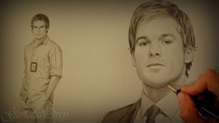 "How to draw: ""Dexter Morgan"" His Face, Body & Apartment"