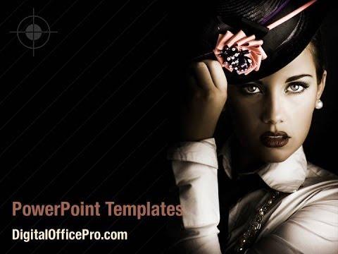 Fashion Art Photo PowerPoint Template Backgrounds - DigitalOfficePro