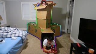 MAILING MYSELF IN THE BIGGEST CARDBOARD BOX HOUSE EVER