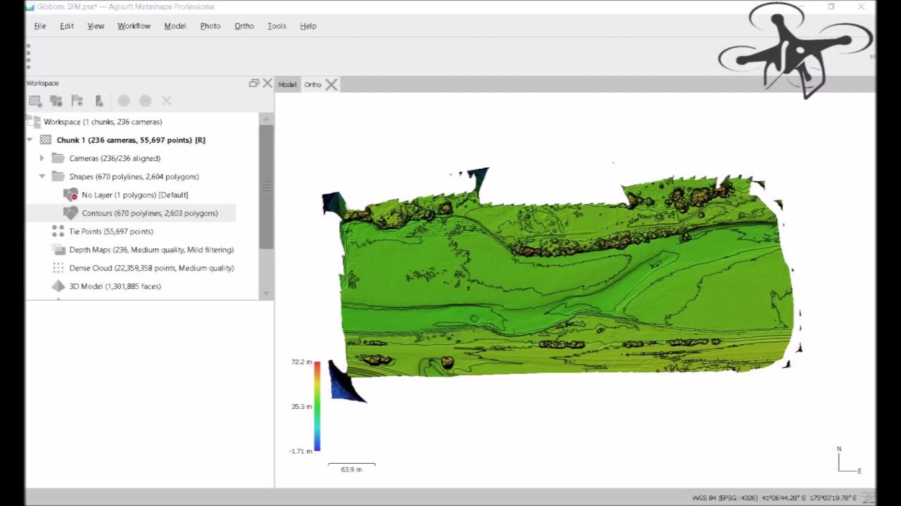 Drone Aerials to Contour & Classified Point Cloud Data