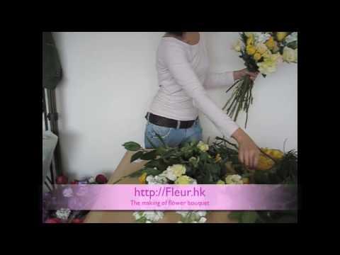 Fleur Hong Kong - Making of the Yellow Bouquet