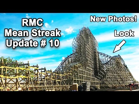 New Cedar Point RMC Mean Streak Update #10. New Ledger Work And Layout Change! 🎢