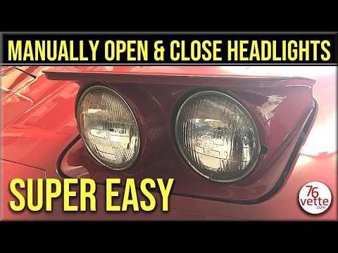 C3 Corvette - Manually Open and Close Headlights