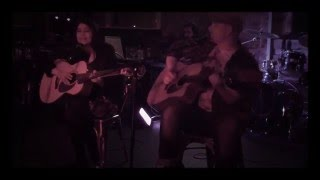 Jen Bird performing 'Scared' with Simon Driscoll...