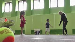 Большой теннис. Подача. Часть 2. Практика. Видеоурок.